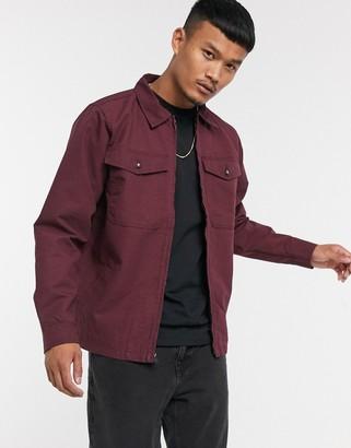 Vans Regis jacket in burgundy