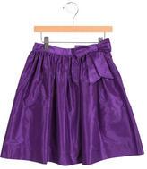Oscar de la Renta Girls' Silk A-Line Skirt
