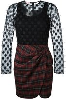Giamba plaid mini dress - women - Cotton/Polyester/Spandex/Elastane/Virgin Wool - 44