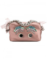 Anya Hindmarch DIAMANTE EYES CHAIN CLUTCH