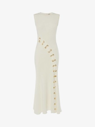 Alexander McQueen Eyelet Knitted Midi Dress