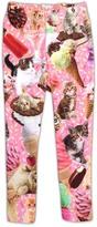 Urban Smalls Pink Ice Creams & Kittens Leggings - Infant Toddler & Girls