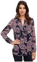 Lucky Brand Paisley Pleated Tunic