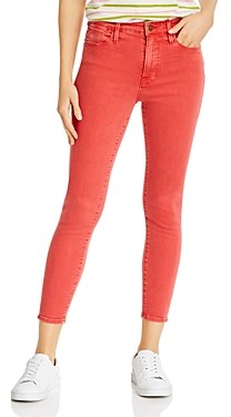 Frame Le High Cropped Skinny Jeans in Washed Cherry - 100% Exclusive