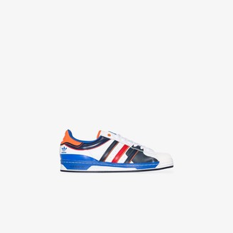adidas multicoloured Superstar leather sneakers