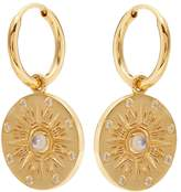 THEODORA WARRE Moonstone Compass gold-plated earrings