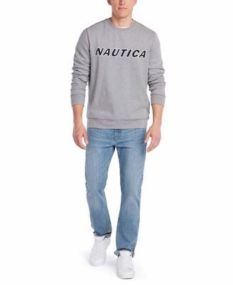 Nautica Men's Classic Fit Crewneck Logo Fleece Pullover