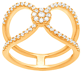 Bliss Cubic Zirconia & Gold Open Oval Ring