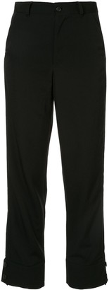 Yohji Yamamoto Button Cuffed Trousers