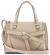 Loewe Gate Mini Grained-leather Top-handle Bag - Womens - Grey
