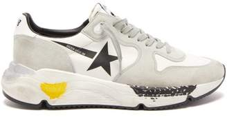 Golden Goose Running Sole Leather Trainers - Mens - White Black