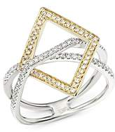 Bloomingdale's Diamond Geometric Statement Ring in 14K White and Yellow Gold, .40 ct. t.w.