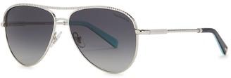 Tiffany & Co. Silver-tone aviator-style sunglasses