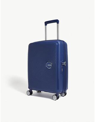 American Tourister Soundbox expandable four-wheel cabin suitcase 55cm