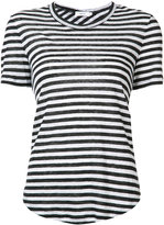 A.L.C. asymmetric back striped T-shirt