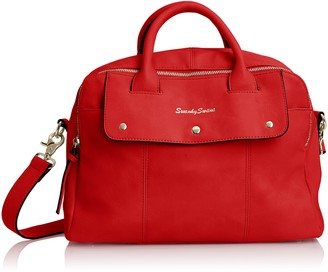 SWANKYSWANS Womens Carla Pu Leather Double Zip Smart Tote Red