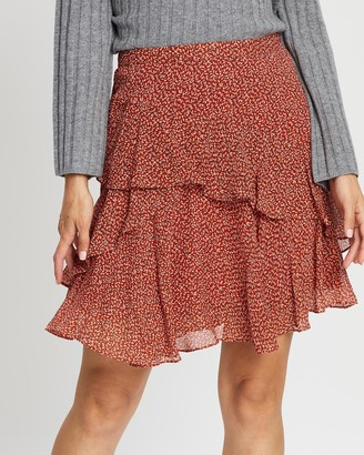SABA Filigree Silk Mini Skirt