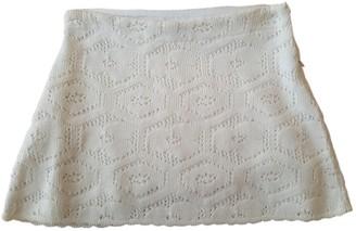 Miu Miu Ecru Wool Skirt for Women