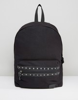 Asos Backpack With Studding Detail To Pocket
