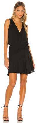 Krisa Flirty Hip Sash Mini Dress