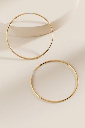francesca's Kassidy Metal Hoops - Gold