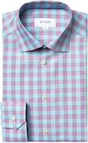 Eton Men's Summer Plaid Dress Shirt