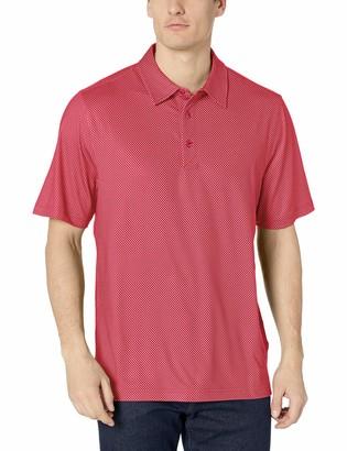 Cutter & Buck Men's Drytec UPF 50 Lightweight Pike Mini Pennant Print Polo Shirt