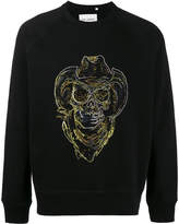 Our Legacy Cowboy Skull Embroidered Sweatshirt