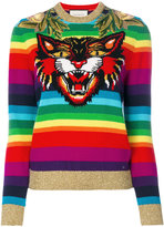 Gucci rainbow tiger jumper