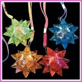 UNAVAILABLE Light-Up Flashing Star LED Ball Pendant Necklace - Display box of 12 units