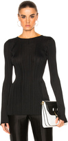 Calvin Klein Collection Elodie Variegated Rib Long Sleeve Tee