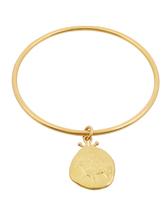 BRIGID BLANCO Yellow-gold coin-charm bracelet