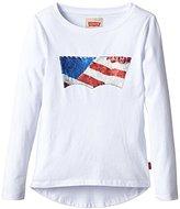 Levi's Girl's Long-Sleeved Shirt - White -