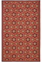 Martha Stewart Puzzle Chocolate Cosmos Brown Wool Rug (3' 9 X 5' 9)