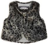 3 Pommes Infant Girls' Leopard Print Faux Fur Vest - Sizes 3-24 Months