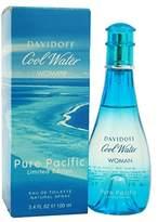 Davidoff Zino Cool Water Pure Pacific Eau De Toilette Spray for Women, 3.4 Ounce