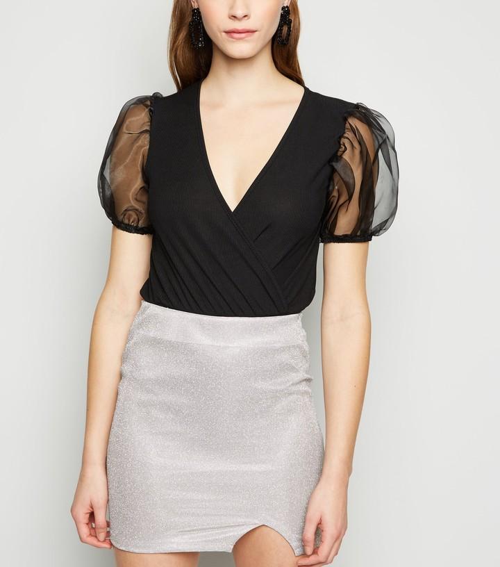 New Look Urban Bliss Glitter Mini Skirt