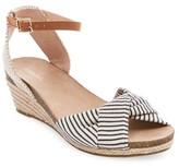 Merona Women's Brynn Footbed Wedge Quarter Straps Sandals