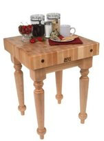 John Boos Country Cutting Block Kitchen Table (30 in. x 24 in.)
