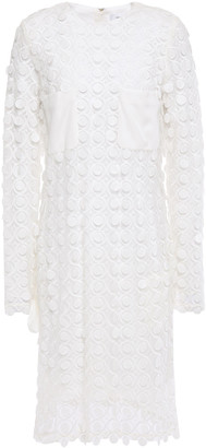 Carven Crepe-paneled Guipure Lace Mini Dress
