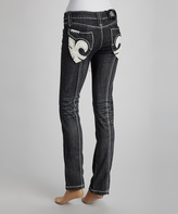 Rebel Spirit Black Boyfriend Jeans - Women