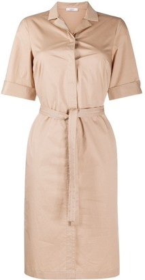 Peserico Tie-Waist Shirt Dress