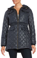 Kate Spade Packable Diamond Quilted Hooded Puffer Coat