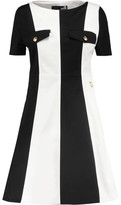 Love Moschino Paneled Cotton-Canvas Mini Dress
