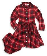 Ralph Lauren Baby's Two-Piece Plaid Shirtdress & Bloomers Set
