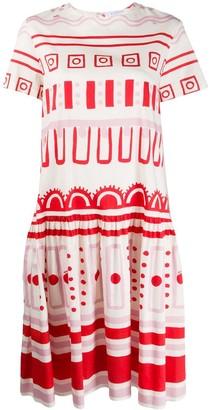 VIVETTA Geometric-Print Flared Dress