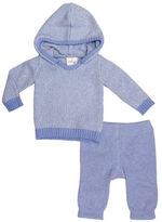 Cuddl Duds Hooded Jacket and Striped Leggings Set