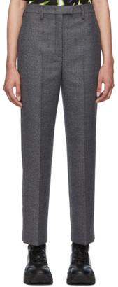 Prada Grey Plaid Look 11 Trousers
