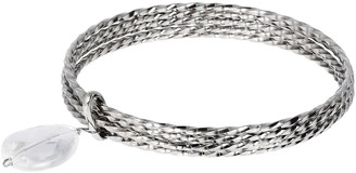 Steel by Design Average Multi-Bangle Charm Bracelet
