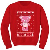 TeeStars Big Pink Furry Bear Doll - Cute Ugly Christmas Sweater Kids Sweatshirt